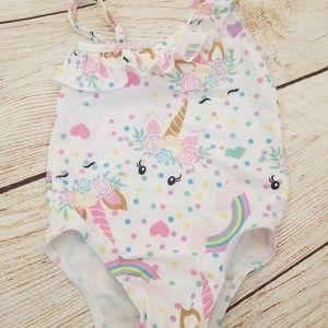 Other - Girls Unicorn One Piece Swimsuit